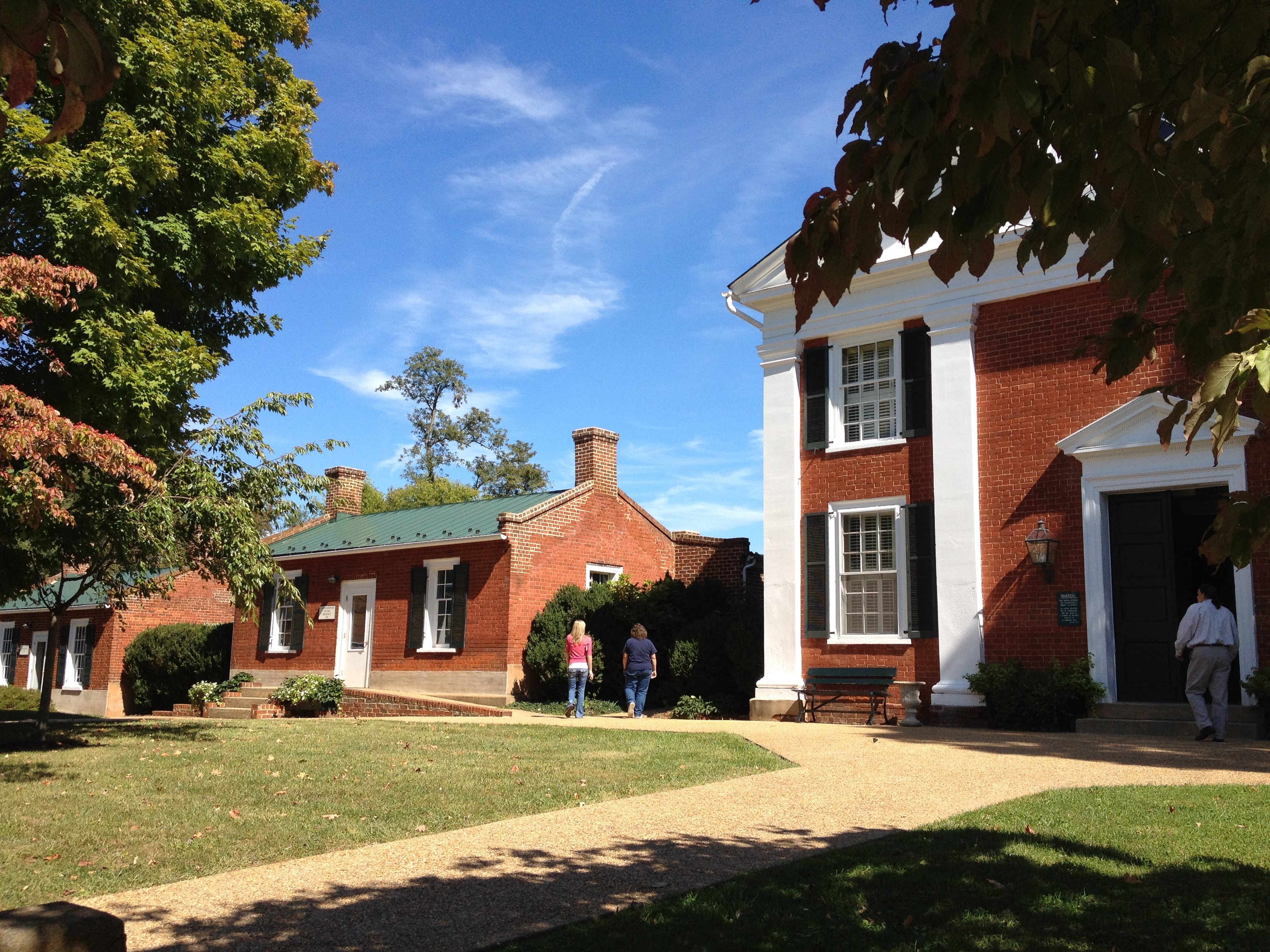 Rappahannock Virginia Government Buildings, showing the Treasury, Revenue Office and Courthouse