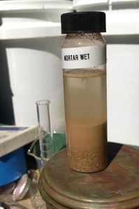 wet mortar