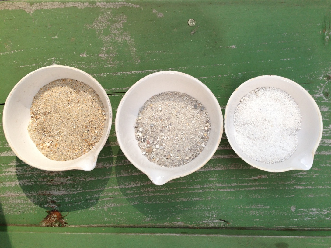 These three aggregates have very different structural capacities for making mortar