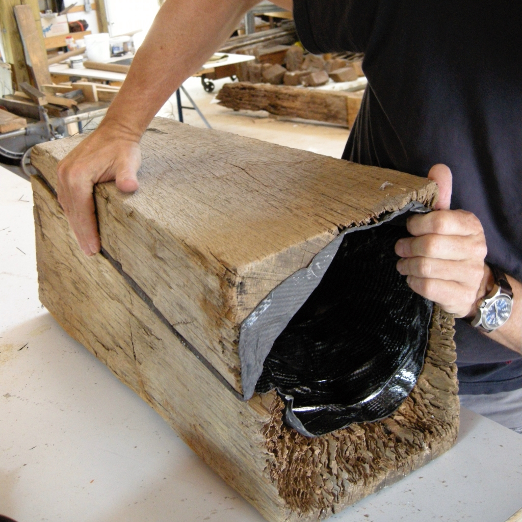 Menokin carbon fiber beam core replacement assembled. Menokin 2008 John Greenwalt Lee