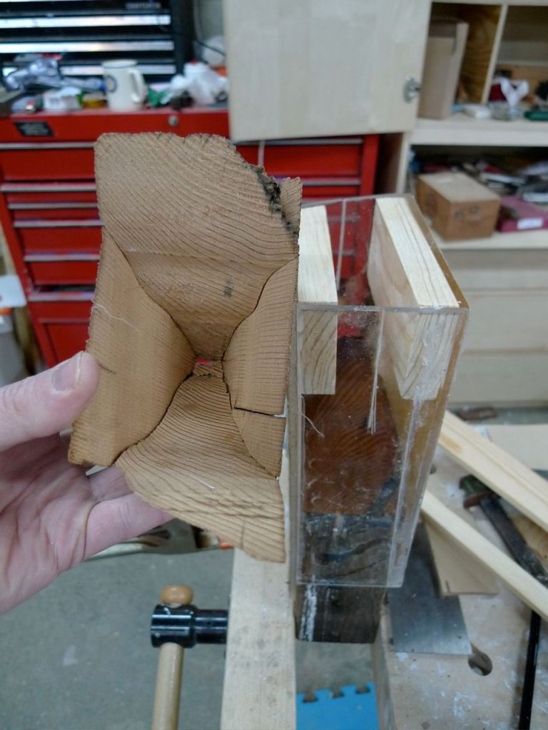 "Form to create a cast tenon ""tooth cap"" for the timber"