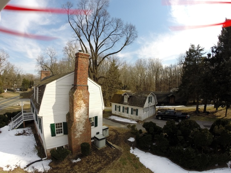 Rising Sun Inn, Crownsville, Maryland during a drone maintenance inspection, 2013