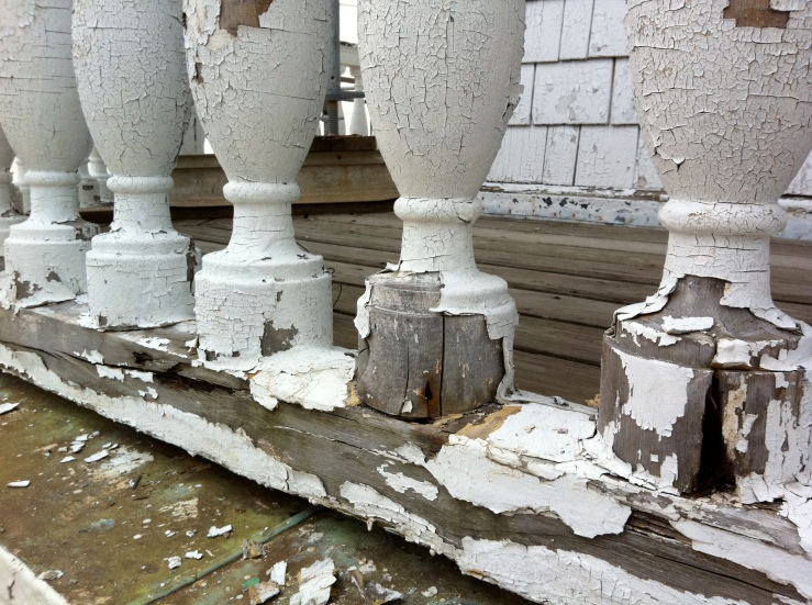 Paint failure and wood deterioration at the Maryland State House Dome 2009